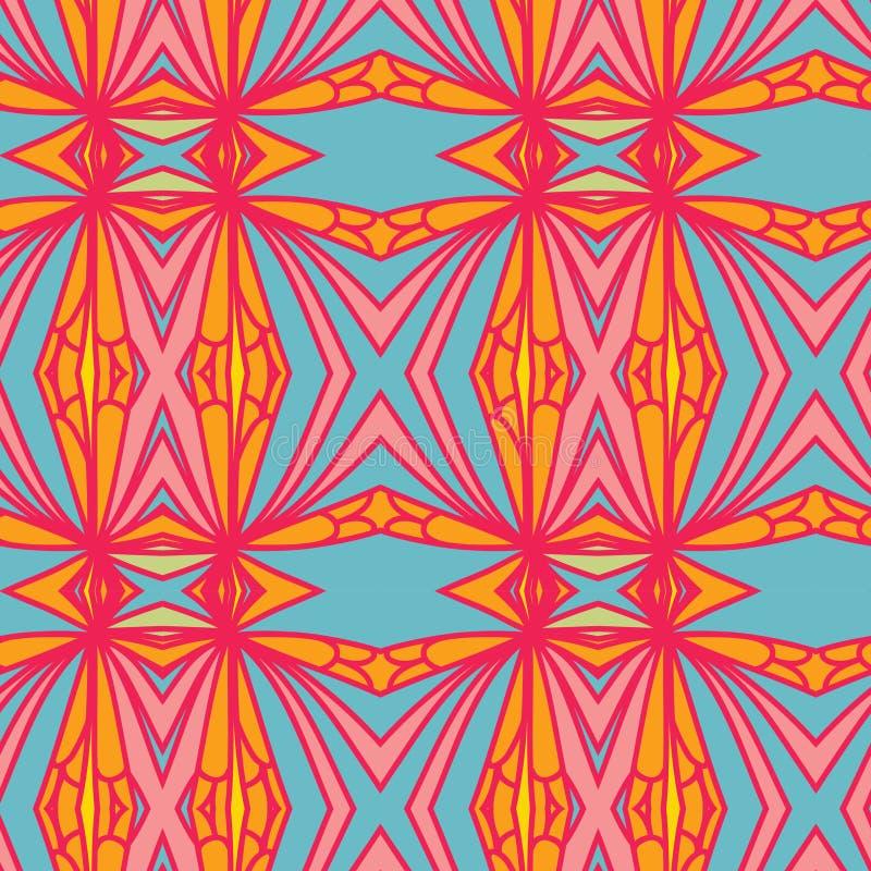 Абстрактная безшовная картина орнамента влияние калейдоскопа Этнический мотив штофа бесплатная иллюстрация