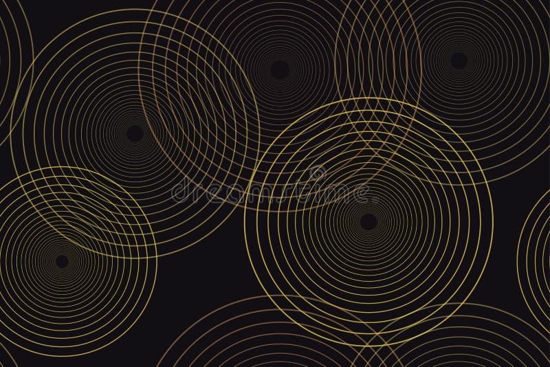Абстрактная безшовная картина предпосылки сделанная с тонкой линией кругами бесплатная иллюстрация