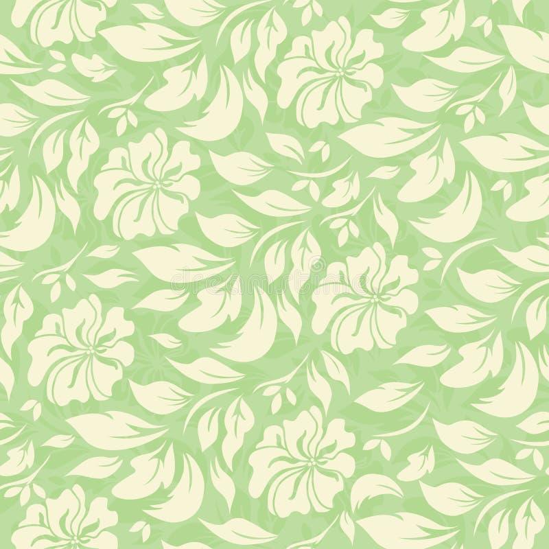 Абстрактная безшовная картина с красивой зеленой флористической предпосылкой иллюстрация штока