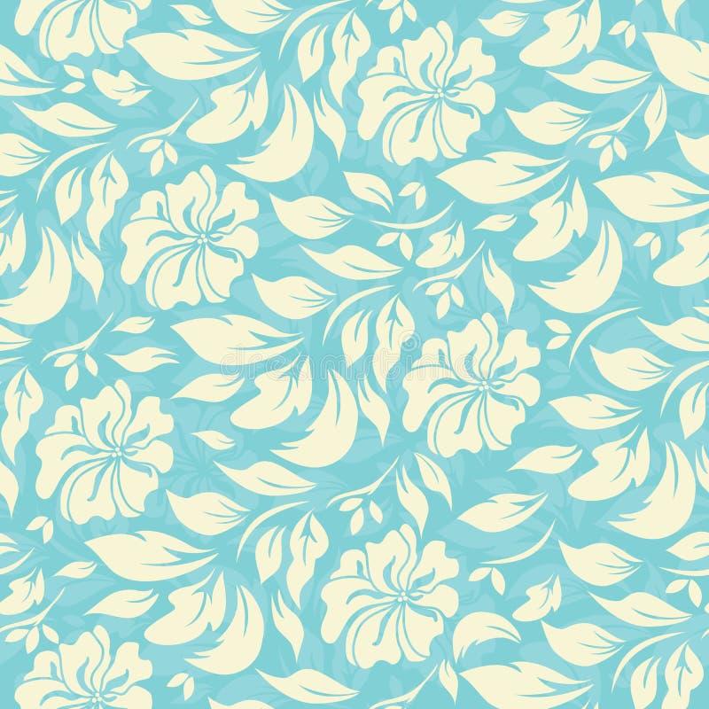 Абстрактная безшовная картина с красивой флористической предпосылкой бесплатная иллюстрация
