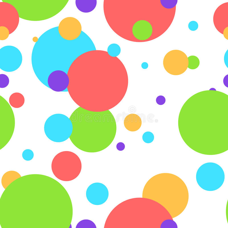 Абстрактная безшовная картина с кругами Картина геометрии для ткани тканье шарфа предпосылки связанное крупным планом яркое бесплатная иллюстрация