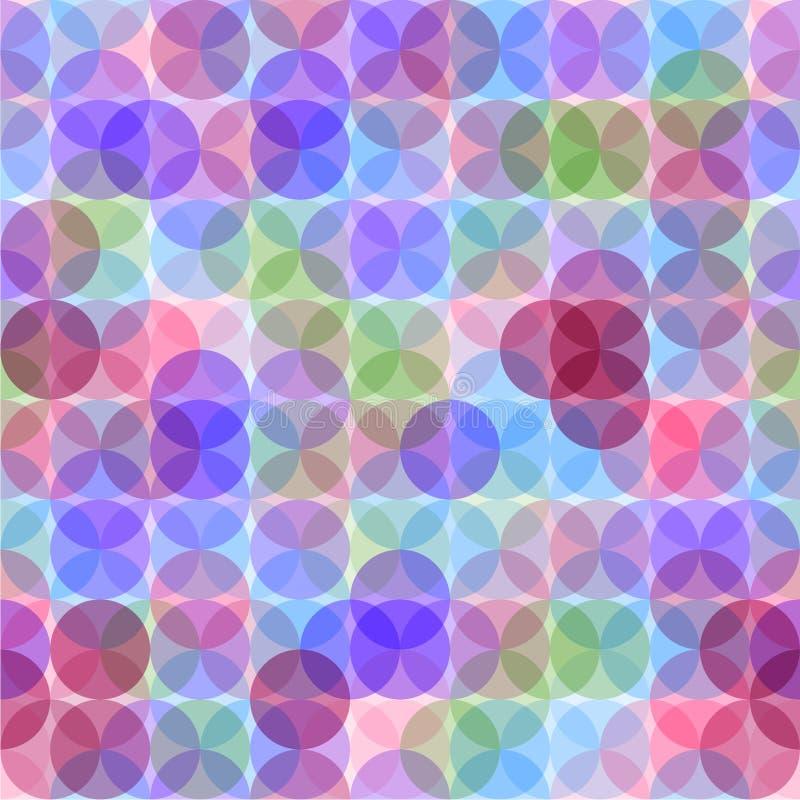 Абстрактная безшовная картина с кругами иллюстрация вектора