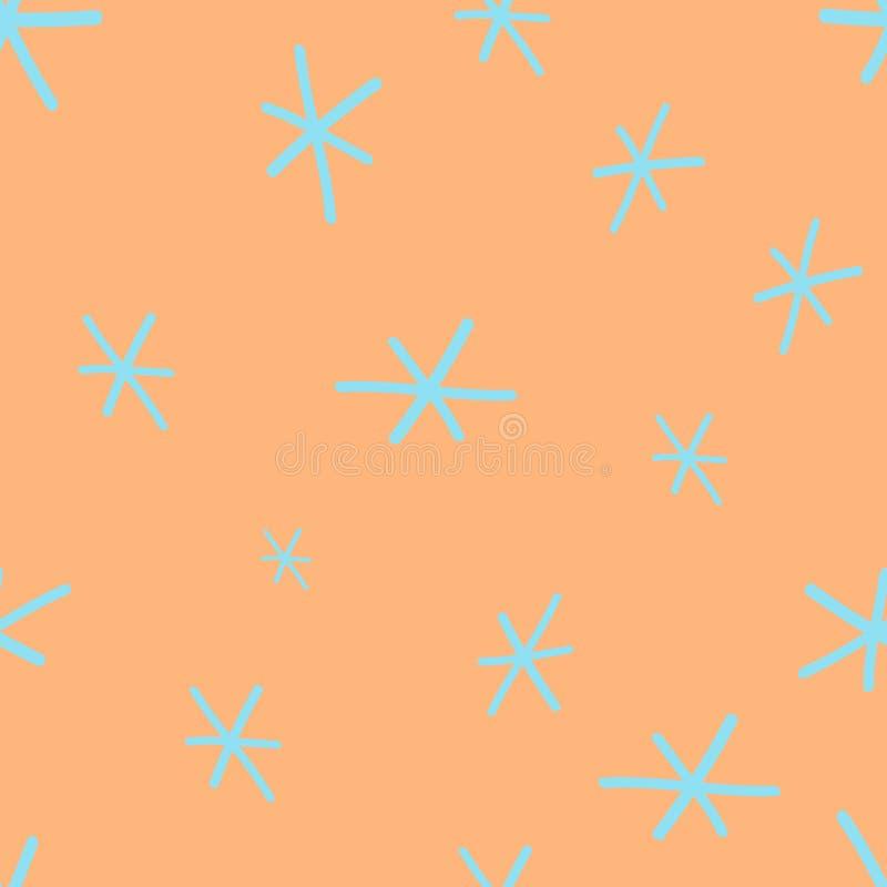 Абстрактная безшовная картина с цветками, снежинками или звездами r стоковая фотография rf