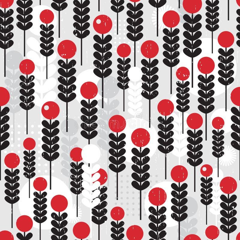Абстрактная безшовная картина с ягодами. бесплатная иллюстрация