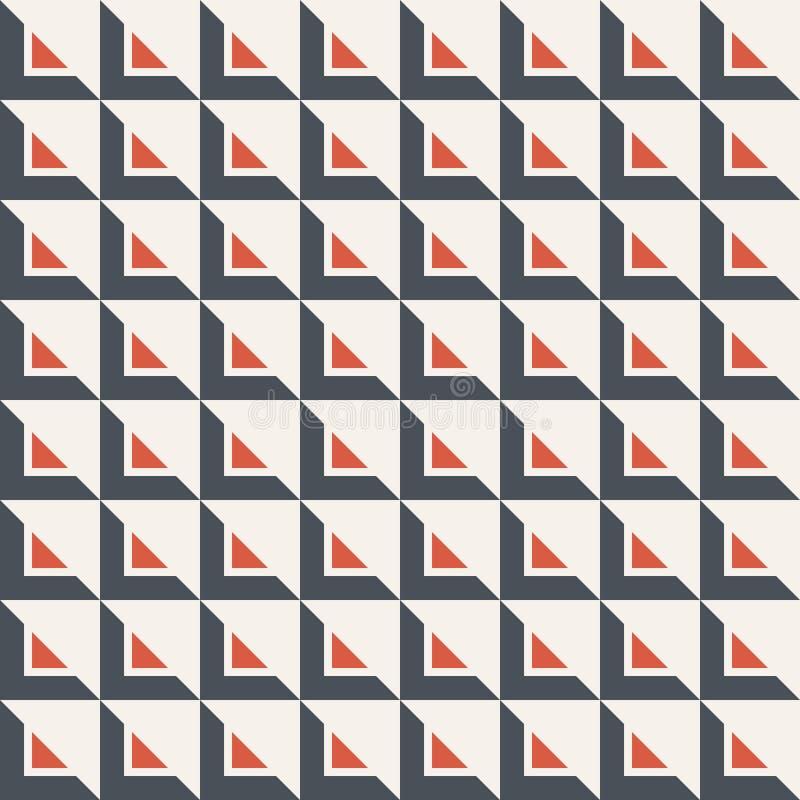 Абстрактная безшовная картина треугольников самомоднейшая стильная текстура Повторять геометрические триангулярные плитки иллюстрация вектора