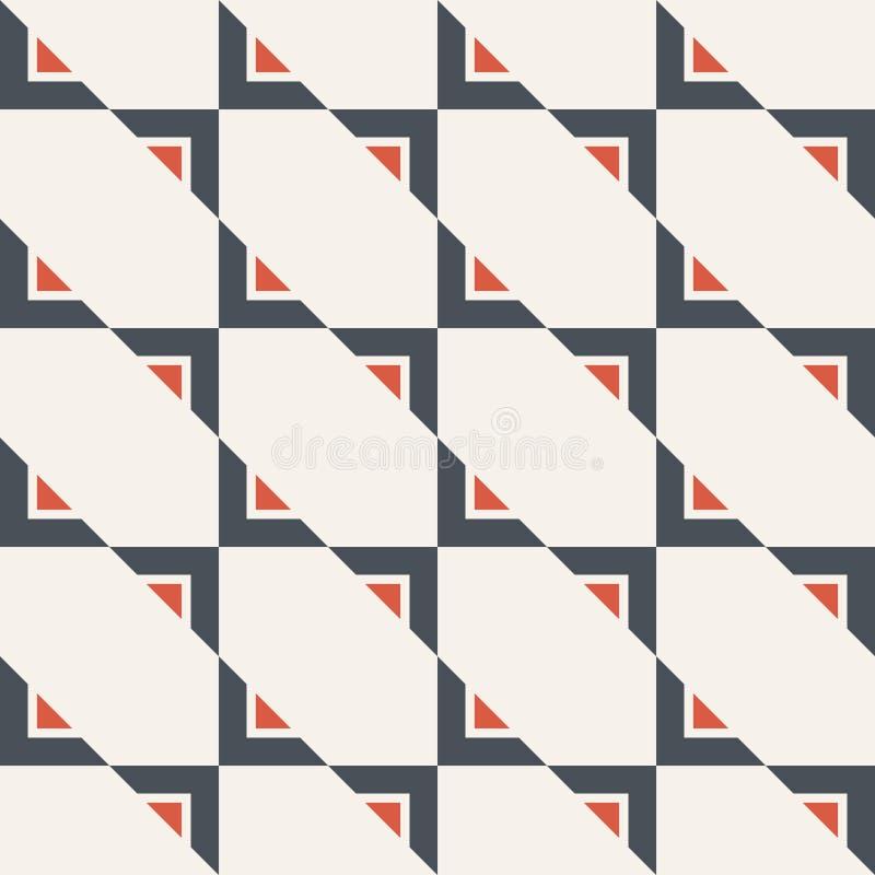 Абстрактная безшовная картина треугольников самомоднейшая стильная текстура Повторять геометрические триангулярные плитки бесплатная иллюстрация
