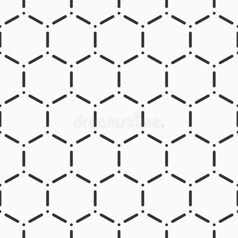 Абстрактная безшовная картина шестиугольников Предпосылка вектора monochrome бесплатная иллюстрация
