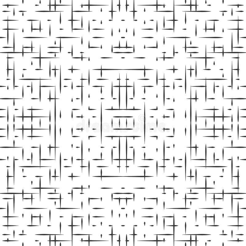 Абстрактная безшовная картина hitech иллюстрация вектора
