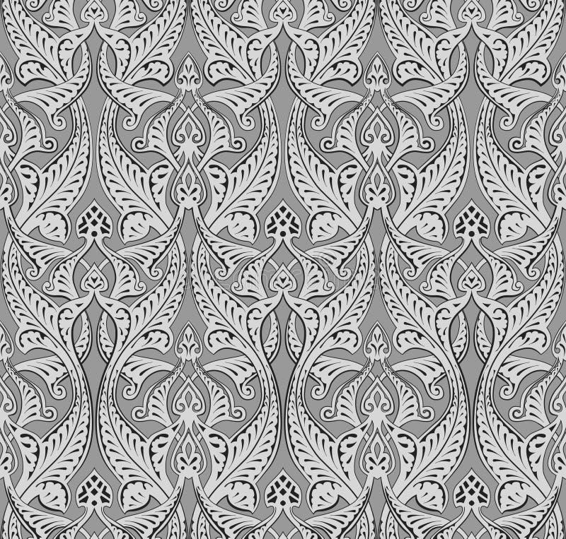 Абстрактная безшовная картина nouveau искусства иллюстрация штока