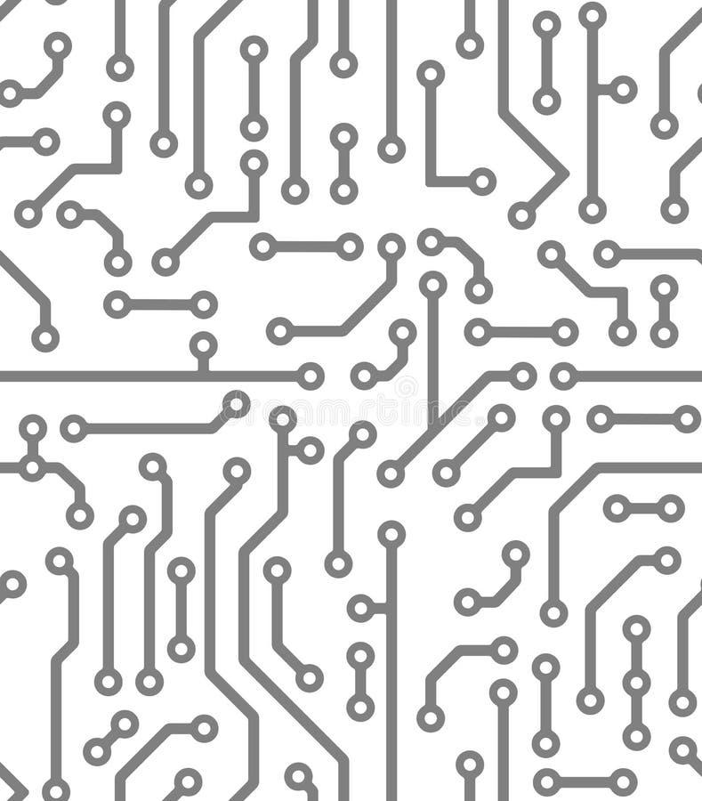 Абстрактная безшовная предпосылка в стиле PCB-плана иллюстрация вектора