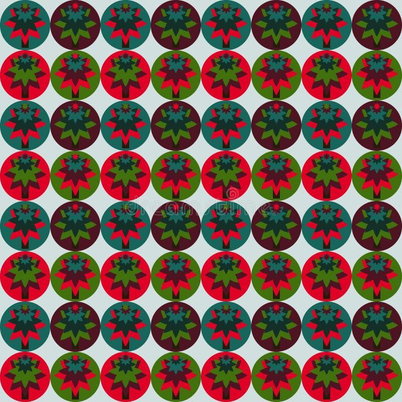 Абстрактная безшовная предпосылка, украшение рождества стоковое фото rf