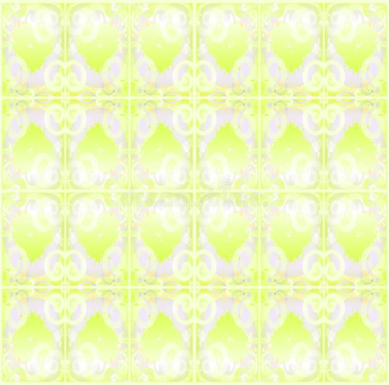 Абстрактная безшовная салатовая картина для тканей иллюстрация штока