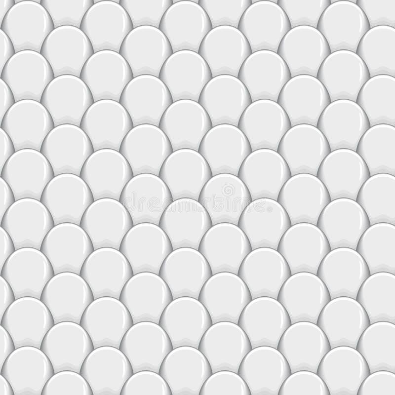 Абстрактная безшовная форма предпосылки масштабов рыб серой шкалы иллюстрация вектора