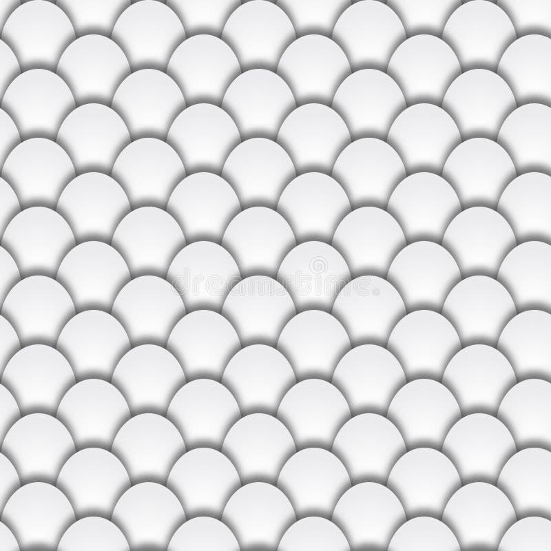 Абстрактная безшовная форма предпосылки масштабов рыб серой шкалы иллюстрация штока