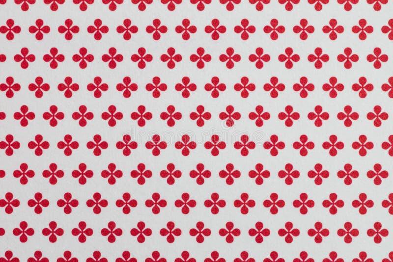 Абстрактная белая предпосылка с красными геометрическими цветками как повторенная картина бесплатная иллюстрация