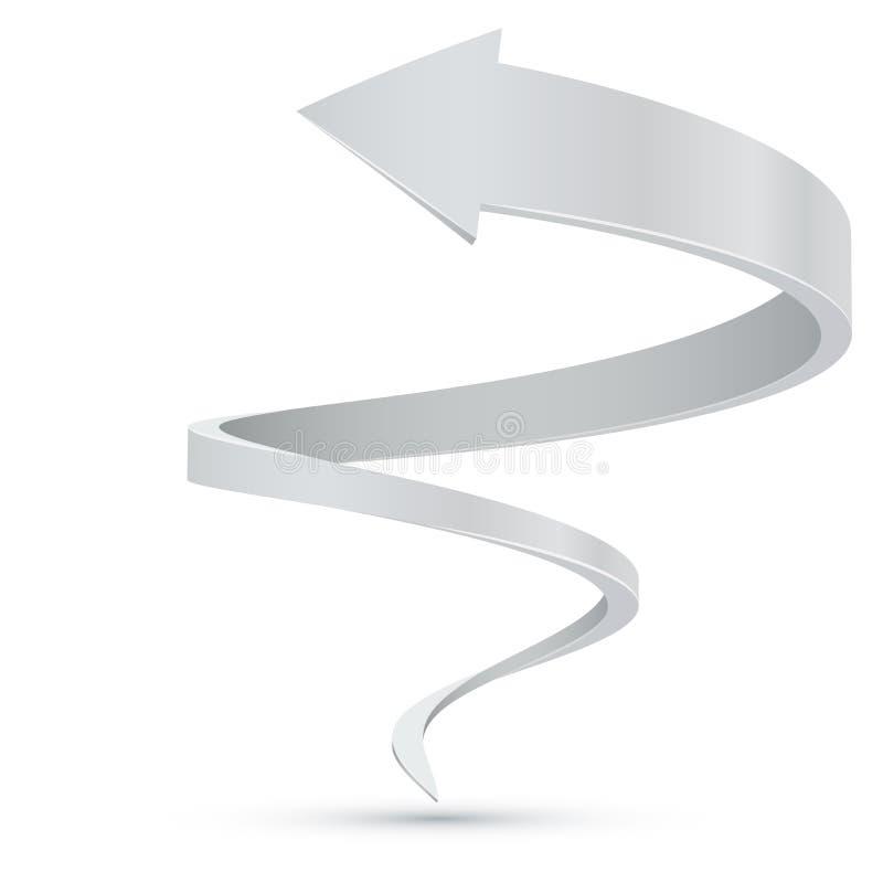 Абстрактная белая спиральная стрелка бесплатная иллюстрация