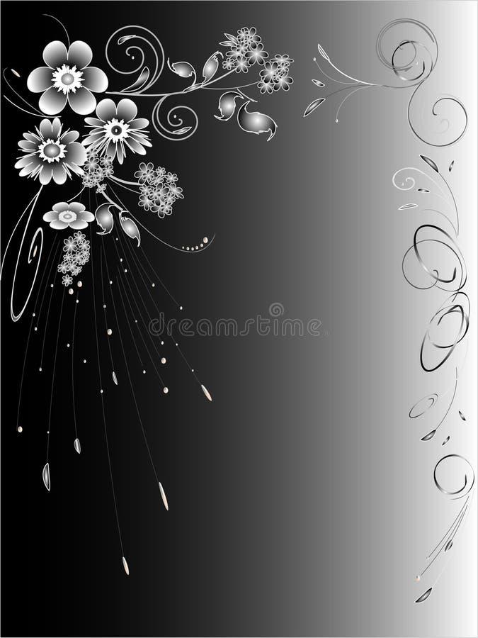 абстрактная белизна черноты предпосылки иллюстрация вектора