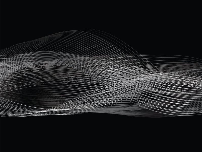 Абстрактная белая линия диапазон серой волны серый бесплатная иллюстрация