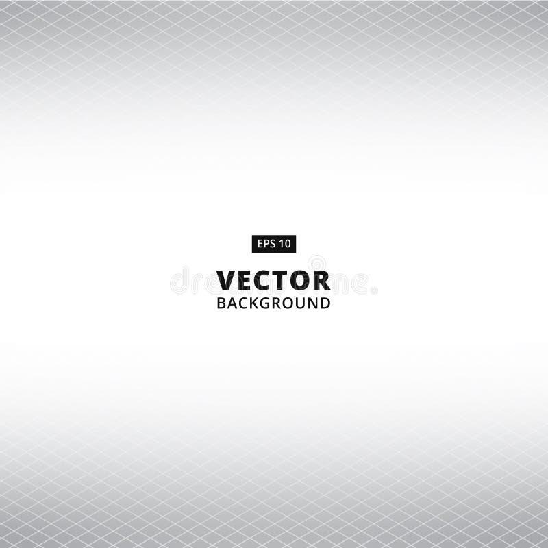 Абстрактная белая и серая предпосылка перспективы решетки вектор иллюстрация штока