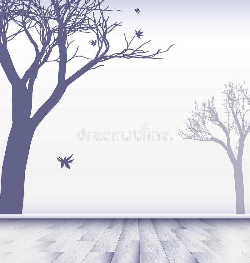 Download Абстрактная белая комната с деревьями Иллюстрация вектора - иллюстрации насчитывающей bowwow, конструкция: 41654837