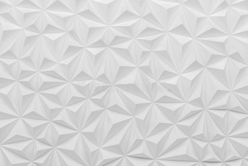 Абстрактная белая низкая поли бумажная материальная предпосылка с spac экземпляра бесплатная иллюстрация