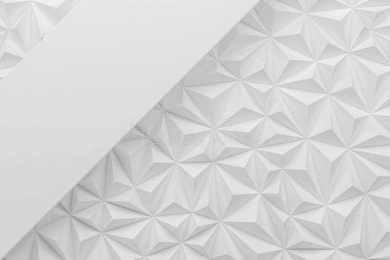 Абстрактная белая низкая поли бумажная материальная предпосылка с spac экземпляра иллюстрация штока