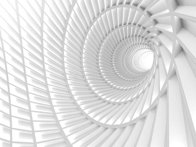 Абстрактная белая предпосылка отверстия тоннеля иллюстрация штока