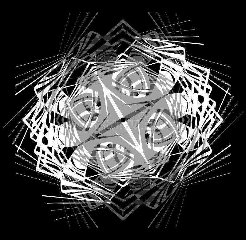 абстрактная белизна картины шнурка черноты предпосылки стоковое фото rf