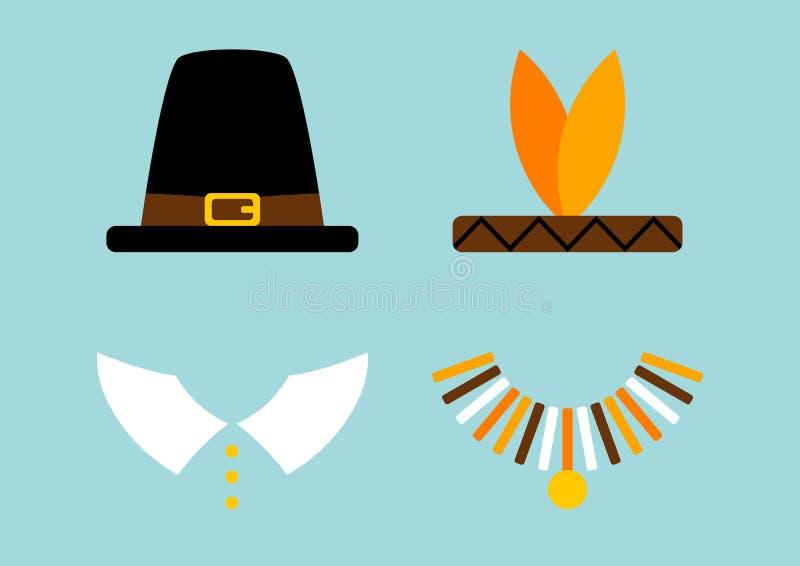 Абстрактная бирюза паломника и коренного американца иллюстрация вектора