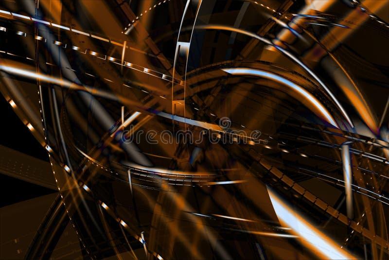 абстрактная бронза предпосылки 3d стоковое изображение rf