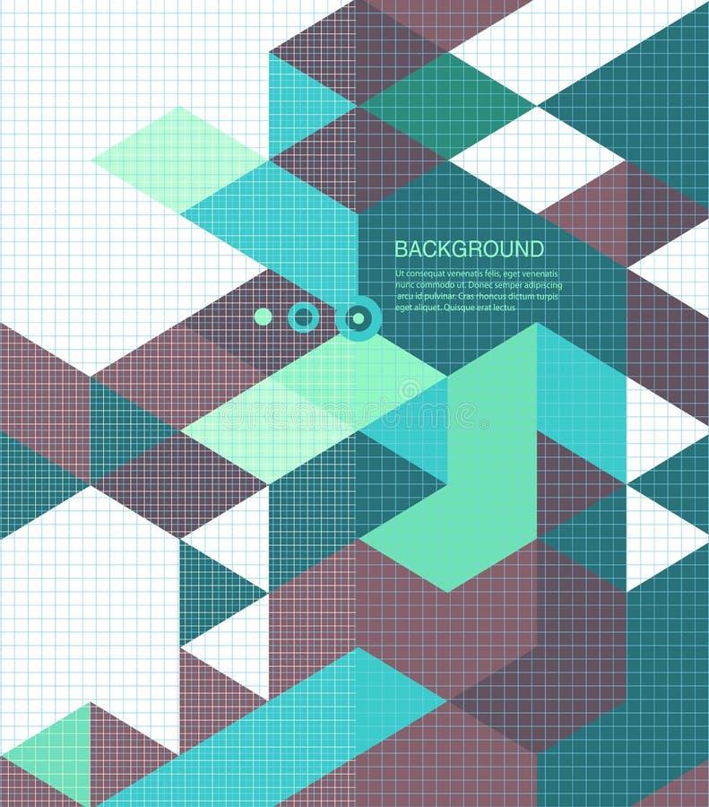 Абстрактная брошюра мозаики /retro предпосылки или иллюстрация штока