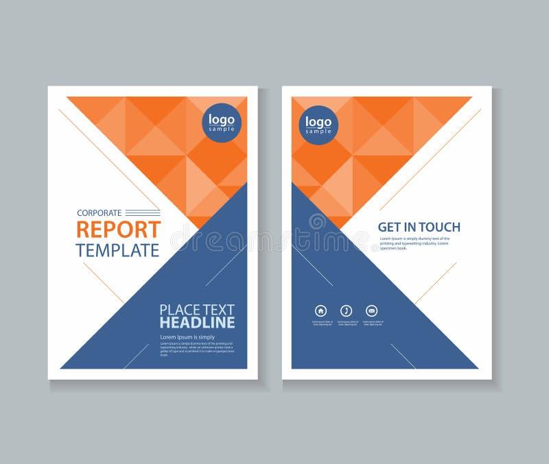 Абстрактная брошюра обложки, рогулька, шаблон дизайна плана отчета иллюстрация штока