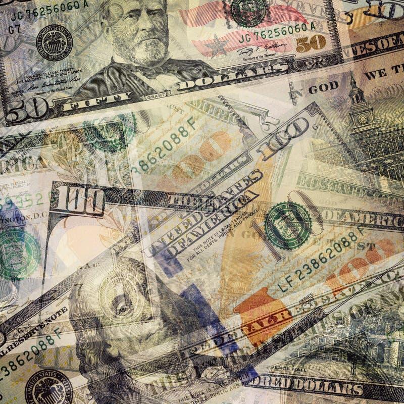 абстрактная бумага дег евро валюты счетов предпосылки различная USD долларовых банкнот стоковая фотография rf