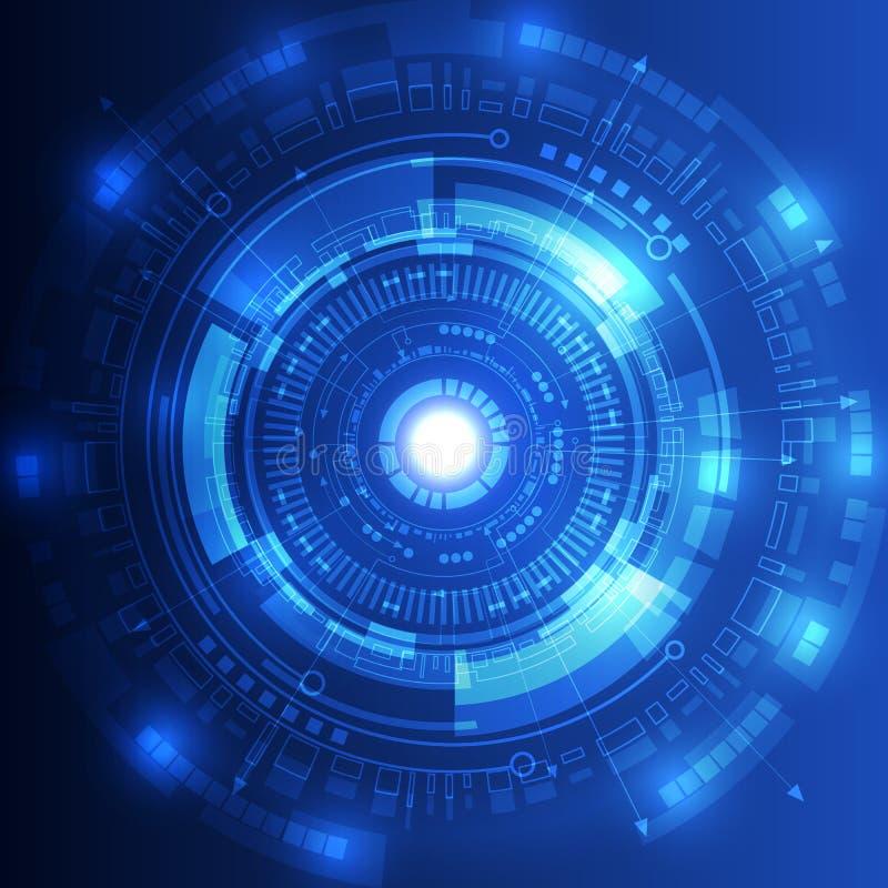 Абстрактная будущая предпосылка концепции технологии, иллюстрация вектора