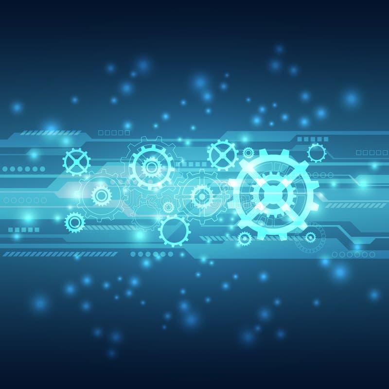 Абстрактная будущая предпосылка концепции технологии, иллюстрация вектора иллюстрация штока