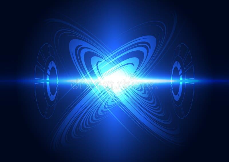Абстрактная будущая предпосылка электрической системы технологии, иллюстрация бесплатная иллюстрация
