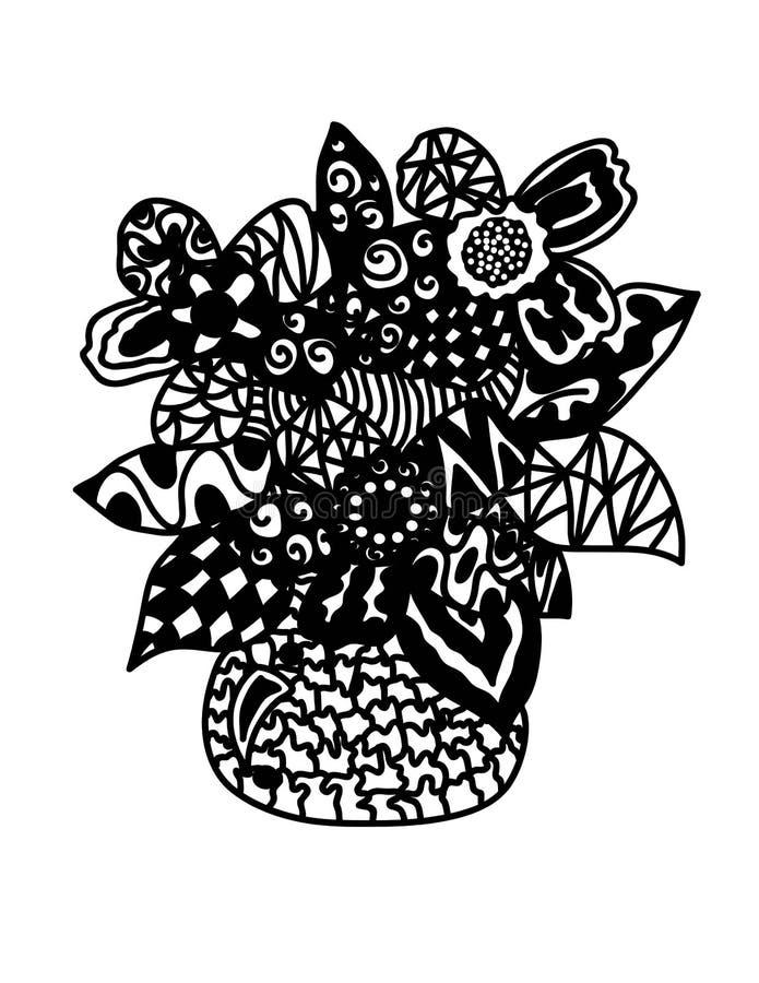 Абстрактная ваза с цветком стоковое изображение rf