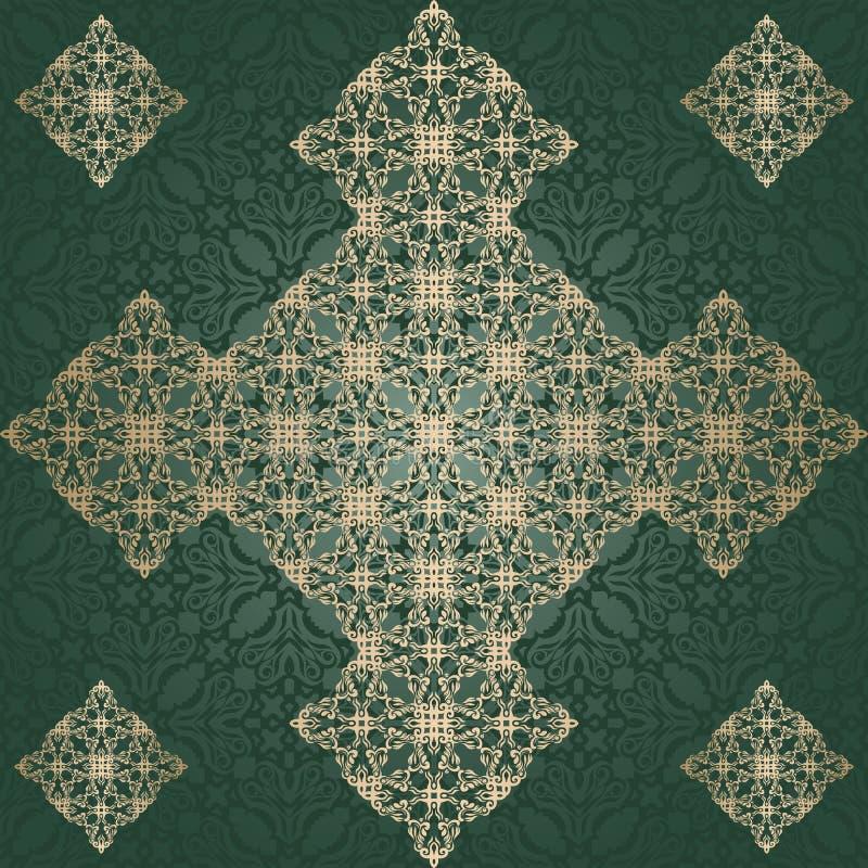 Download Абстрактная винтажная картина на безшовной предпосылке Иллюстрация вектора - иллюстрации насчитывающей листья, способ: 33735794