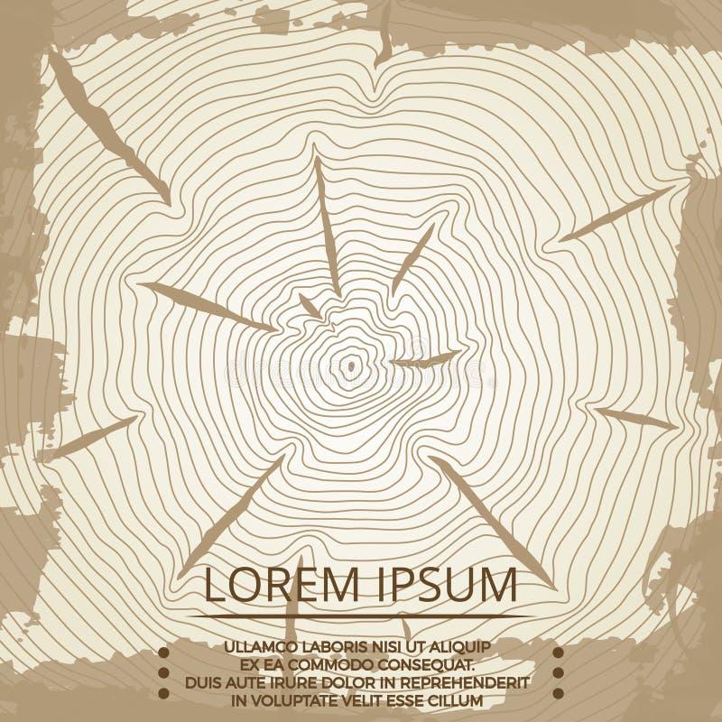 Абстрактная винтажная предпосылка grunge с годичными кольцами дерева бесплатная иллюстрация