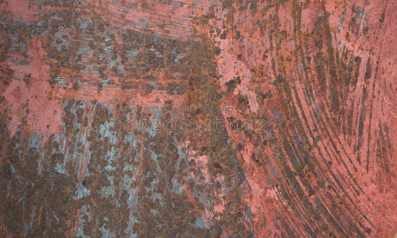 Абстрактная винтажная старая покрашенная предпосылка стального листа ржавчины стоковое фото