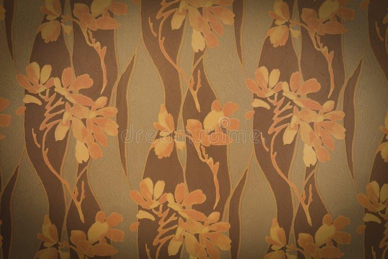 Абстрактная виньетка цветет на конкретном tex предпосылки стены цемента стоковая фотография