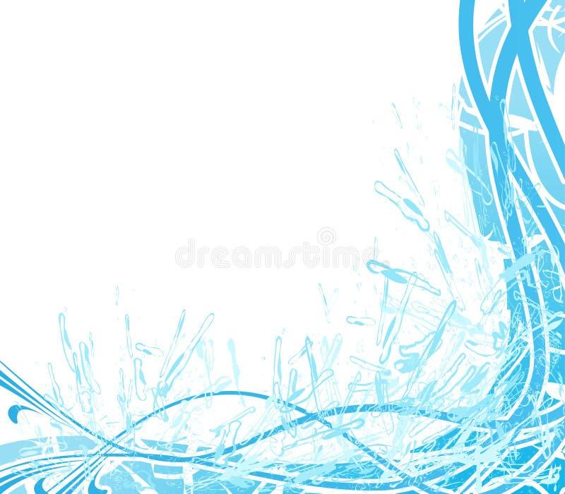 абстрактная вода выплеска предпосылки иллюстрация штока