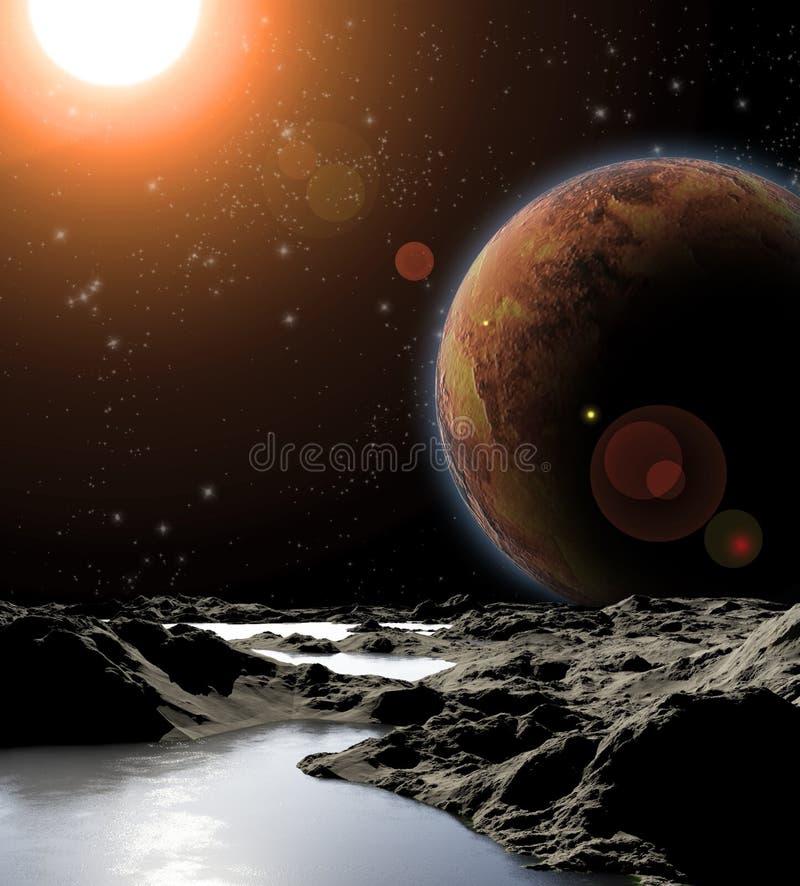 абстрактная вода планеты изображения иллюстрация штока