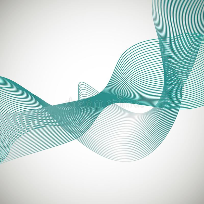 Абстрактная волна дыма предпосылки вектора иллюстрация штока