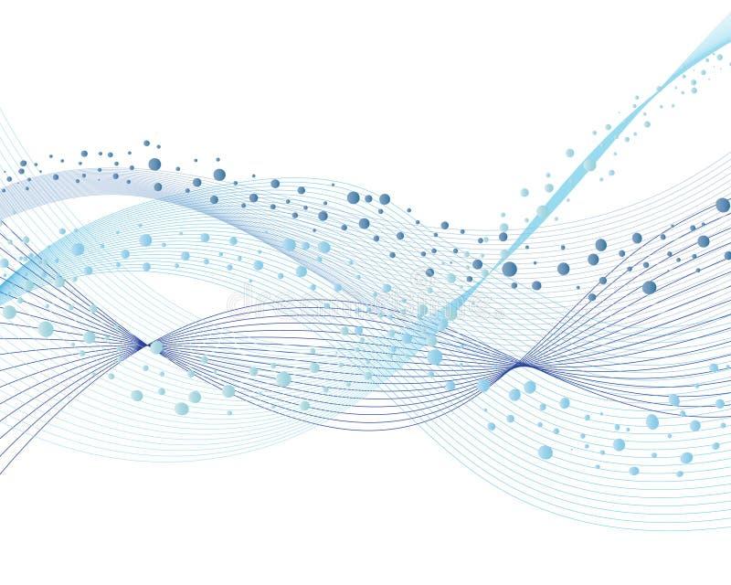абстрактная волна предпосылки иллюстрация штока