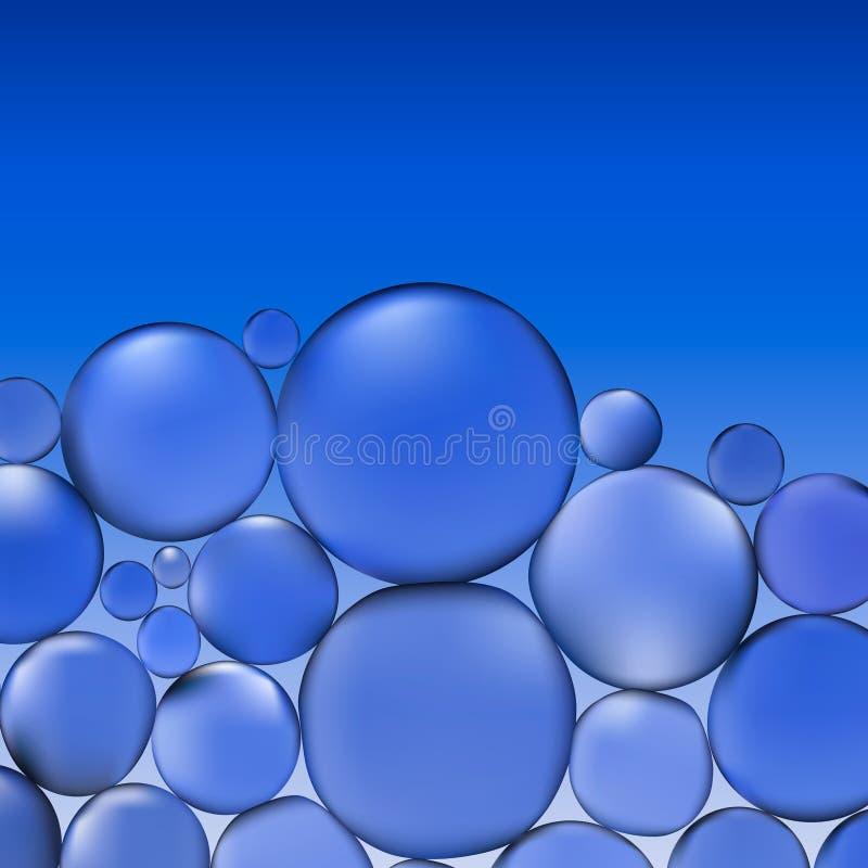 Абстрактная вода вектора с пузырями Голубая картина предпосылки бесплатная иллюстрация
