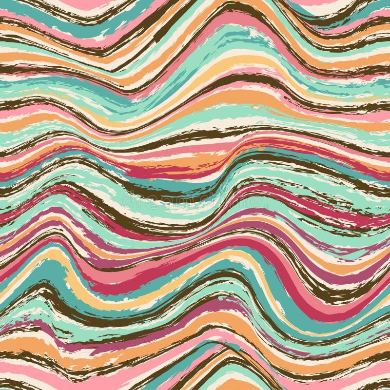 Абстрактная волнистая безшовная картина бесплатная иллюстрация