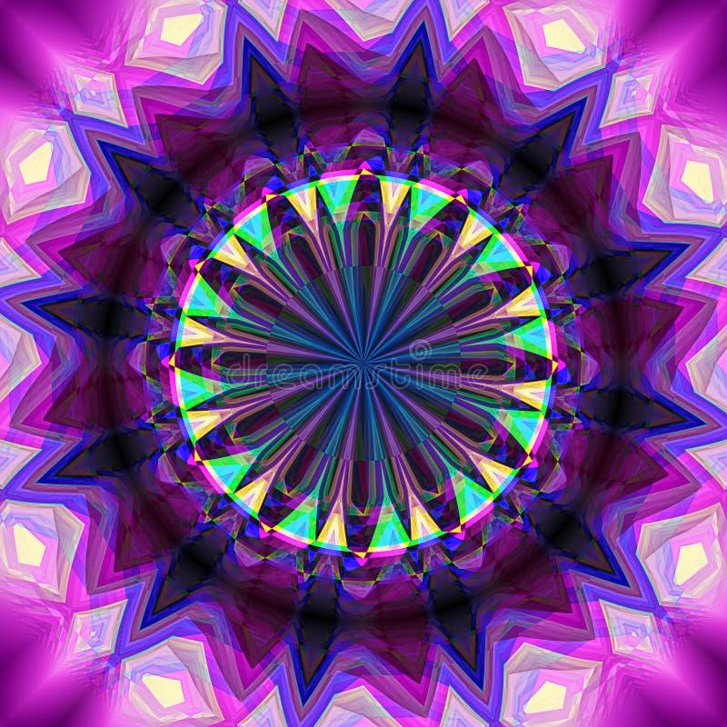 Абстрактная вращая предпосылка при kaleidoscopic объект создавая иллюзию движения стоковая фотография
