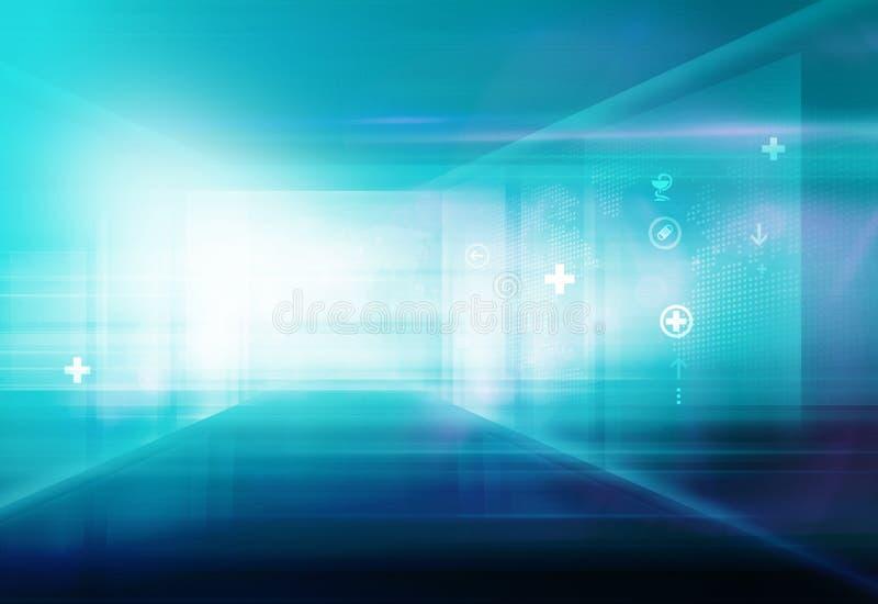 Абстрактная высокотехнологичная серия концепции космоса здравоохранения 3D иллюстрация штока