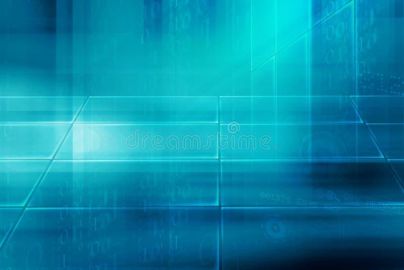 Абстрактная высокотехнологичная цифровая серия концепции предпосылки иллюстрация вектора